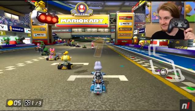 【ワロタw】『マリオカート8 デラックス』ハンドルアシストを付けてアクセルも自動にすると…これはアリなのかwwwww