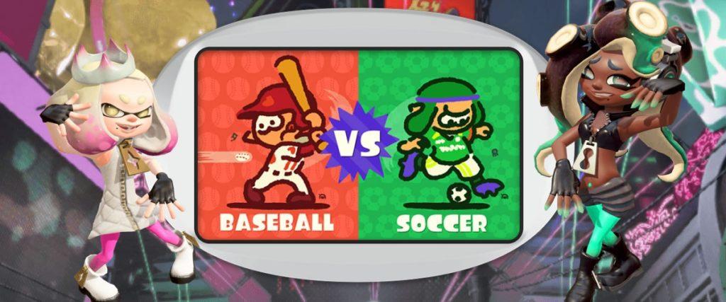 『スプラトゥーン2』北米フェス「野球vsサッカー」の結果が発表されたぞ!!得票数が多かったのは意外にも……?!